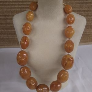 Joan Rivers Amber necklace